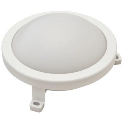 TRACON LHLMK12NW Műanyag házas LED hajólámpa, kerek forma 230 V, 50 Hz, 12 W, 840 lm, 4000 K, IP54,EEI=A