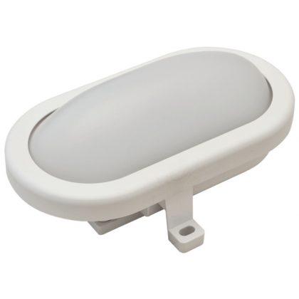 TRACON LHLMO12NW Műanyag házas LED hajólámpa, ovális forma 230 V, 50 Hz, 12 W, 840 lm, 4000 K, IP54,EEI=A