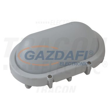 TRACON LHLO8W Fém LED hajólámpa, ovális, fehér 220-240V AC, 8W, 4000K, IP65, 640lm, EEI=A