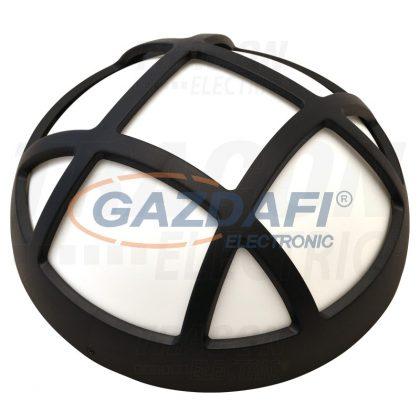 TRACON LHR15NW Műanyag házas LED hajólámpa, kerek, rácsos 230 V, 50 Hz, 15 W, 1050 lm, 4000 K, IP54, EEI=A