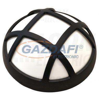 TRACON LHR8NW Műanyag házas LED hajólámpa, kerek, rácsos 230 V, 50 Hz, 8 W, 540 lm, 4000 K, IP54, EEI=A