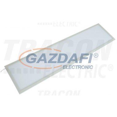 TRACON LP3012040NW Süllyesztett LED panel, téglalap, fehér 220-240VAC;40W;2900 lm;296×1196mm,4000K;IP40; EEI=A