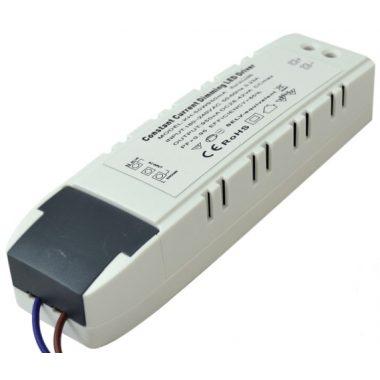 TRACON LPCC40WD Dimmelhető LED meghajtó LP panelekhez 180-240 VAC, 0,23 A / 28-42 VDC, 950 mA, TRIAC