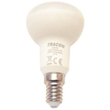 TRACON LR507W LED reflektorlámpa 230 V, 50 Hz, E14, 7 W, 470 lm, 2700 K, 120°, EEI=A+
