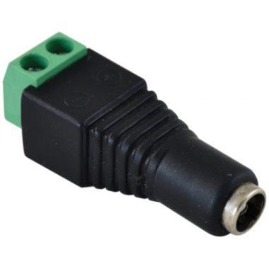 TRACON LSZJF55 Jack/csavaros csatlakozó hüvely LED szerelésekhez 5,5 mm