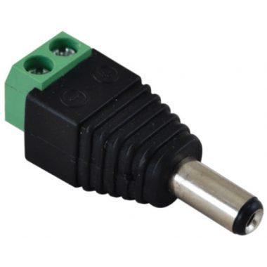 TRACON LSZJM55 Jack/csavaros csatlakozó dugó LED szerelésekhez 5,5 mm