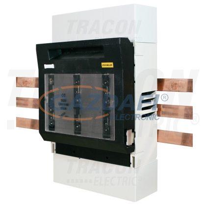 TRACON LTL1-3-9-100-AU Biztosítós szakaszolókapcsoló, gyűjtősínre, alsó kábelbevezetés
