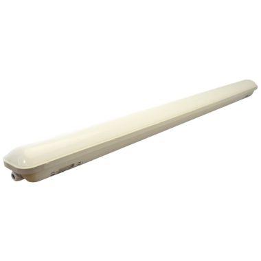 TRACON LV1236E Védett LED ipari lámpatest vészvilágító funkcióval 230 V, 50 Hz, 36 W/3W, 4000 K, 3000/280 lm, IP65