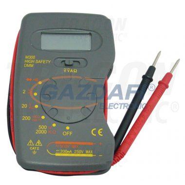 TRACON M300 Digitális multiméter DCV,ACV,DCA,OHM