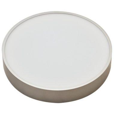 TRACON MFDS8W Műanyag búrás falon kívüli LED lámpatest ezüst peremmel 230 V, 50 Hz, 8 W, 600 lm, 3000 K, EEI=A