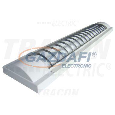 TRACON MFL-T8-230W Mennyezeti fénycsöves lámpatest műanyag védőráccsal 230V, 50Hz, T8, G13, 2×30W, EEI=A