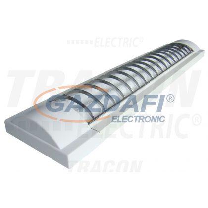 TRACON MFL-T8-236W Mennyezeti fénycsöves lámpatest műanyag védőráccsal 230V, 50Hz, T8, G13, 2×36W, EEI=A