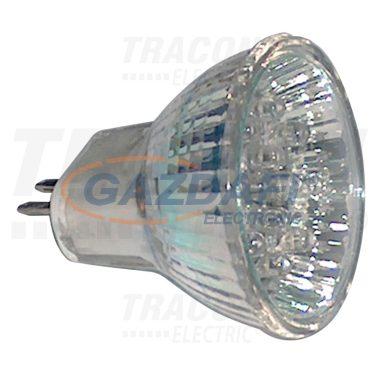 TRACON MR11L-G Hidegtükrös LED fényforrás, zöld 12 V AC/DC, MR11, 0,8W, 120°, G5.3, 12×LED