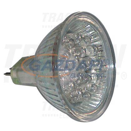 TRACON MR16L-B Hidegtükrös LED fényforrás, kék 12 V AC/DC, MR16, 1,2W, 120°, G5.3, 18×LED