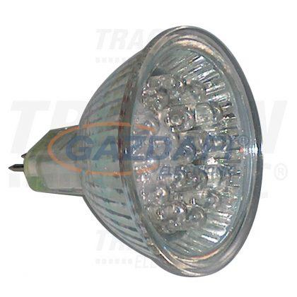TRACON MR16L-G Hidegtükrös LED fényforrás, zöld 12 V AC/DC, MR16, 1,2W, 120°, G5.3, 18×LED
