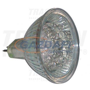 TRACON MR16L-R Hidegtükrös LED fényforrás, vörös 12 V AC/DC, MR16, 1,2W, 120°, G5.3, 18×LED