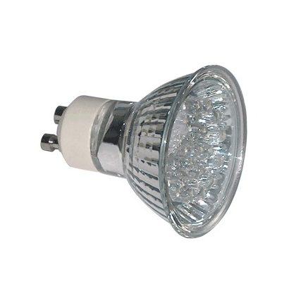 TRACON MR230L-Y Hidegtükrös LED fényforrás, sárga 230V, 50Hz, MR230, 1,2W, 120°, GU10, 18×LED