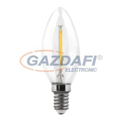 MAXLED MXL-65610 LED gyertya fényforrás, filament, 4W, 400lm, 2700K, E14, 230V