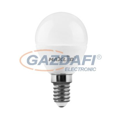 MAXLED MXL-67379 LED kisgömb fényforrás, SMD, 5W, 416lm, 4500K, E14, 175-250V