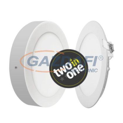MAXLED MXL-68376 2in1 LED panel mélysugárzó, 6W, ø122x10/35 mm, kerek, 3000K