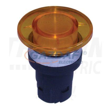 TRACON NYG2-F12 Gombafejű vészgomb fej-egység, sárga-átlátszó
