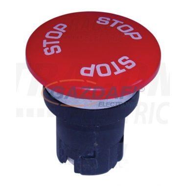 TRACON NYG2-F7 Gombafejű vészgomb fej-egység, piros STOP felirattal