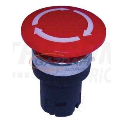 TRACON NYG2-F9 Gombafejű vészgomb fej-egység elfordításos reteszoldással