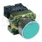 TRACON NYGBA31ZT Tokozott egyszerű nyomógomb, fémalapra szerelt, zöld 1×NO, 3A/240V AC, IP44