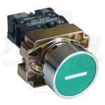 TRACON NYGBA3311Z Jelölt nyomógomb, fémalapra szerelt, zöld, (fehér I) 1×NO, 3A/240V AC, IP42