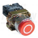 TRACON NYGBA4322PT Tokozott jelölt nyomógomb, fémalapra szer., piros, (fehér 0) 1×NC, 3A/240V AC, IP44
