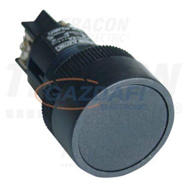 TRACON NYGEH125F Nyomókapcsoló, műanyag testű, fekete 1×CO, 0,4A/400V AC, IP42, d=22mm