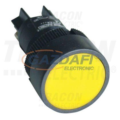 TRACON NYGEH155S Nyomókapcsoló, műanyag testű, sárga 1×CO, 0,4A/400V AC, IP42, d=22mm