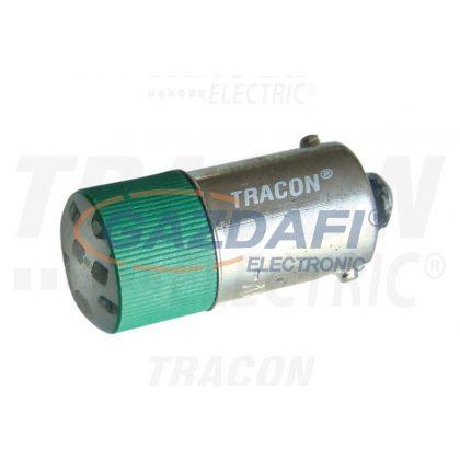 TRACON NYGL-AC400G LED-es jelzőizzó, zöld 400V AC/DC, Ba9s