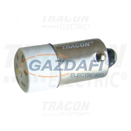 TRACON NYGL-AC400W LED-es jelzőizzó, fehér 400V AC/DC, Ba9s