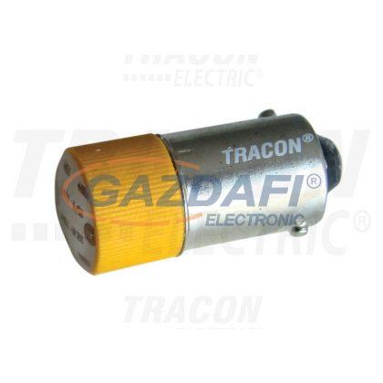 TRACON NYGL-AC400Y LED-es jelzőizzó, sárga 400V AC/DC, Ba9s