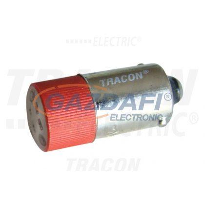 TRACON NYGL-ACDC24R LED-es jelzőizzó, piros 24V AC/DC, Ba9s