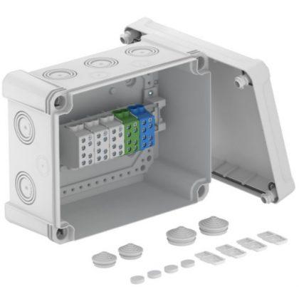 OBO 2005312 X16 H25 GNP5 LGR Leágazódoboz fővezetéki sorkapoccsal  240x191x125mm