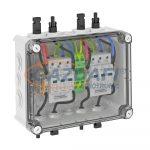 OBO 5088556 PVG-C1000S110 napelemes csatlakozódoboz T2, 2x1 PV-String 2 WR-MPP+MC4,