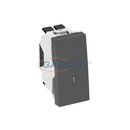OBO 6120928 WS-UKL SWGR0.5 Kikapcsoló/váltókapcsoló jelzőfénnyel  szürkésfekete