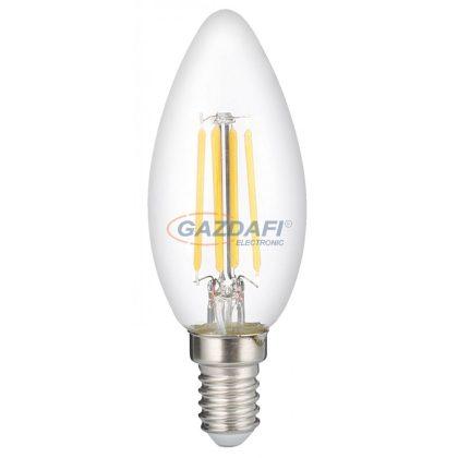 OPTONICA 1411 LED gyertya fényforrás C35 6W 730LM E14 220-240V 4500K FILAMENT