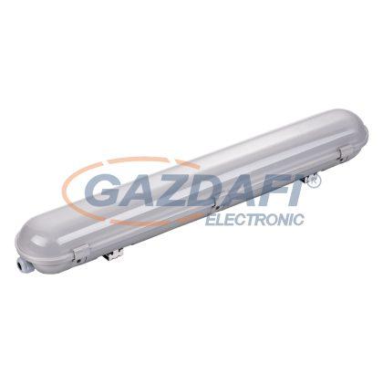 OPTONICA 6711 LED fénycsöves, por- és páramentes armatúra IP65 150CM 55W 100LM/W 6000K vészvilágító funkcióval - rozsdamentes acél rögzítő elemekkel, tömszelencével