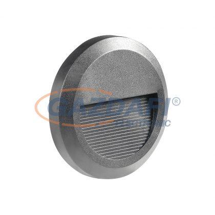 OPTONICA 7508 LED lépcsővilágító kerek szürke 2W 4200K 120LM AC100-240V IP65