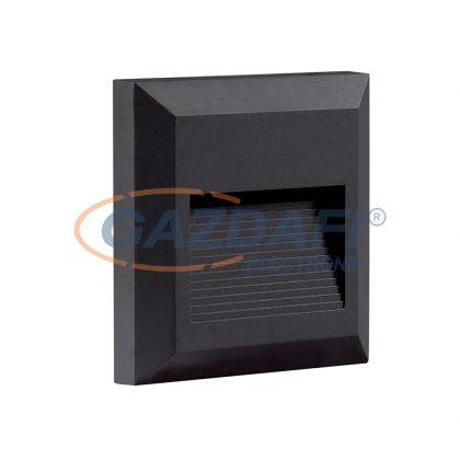 OPTONICA 7509 LED lépcsővilágító szögletes fekete 2W 3000K 120LM AC100-240V IP65