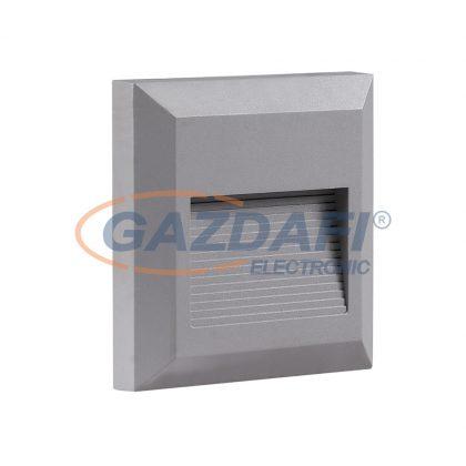 OPTONICA 7514 LED lépcsővilágító szögletes szürke 2W 4200K 120LM AC100-240V IP65
