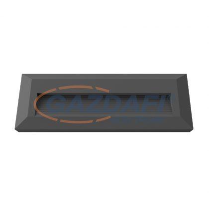 OPTONICA 7516 LED lépcsővilágító szögletes fekete 3W 4200K 330LM AC100-240V IP65