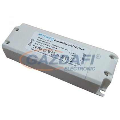 OPTONICA AC6031 LED panel tápegység, dimmelhető 25W 600mA 30-42Vdc