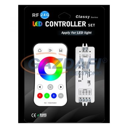 OPTONICA AC6349 LED szalag RGB vezérlő rádiós távirányítóval 144-288W 12-24V IP20 97x33x18mm
