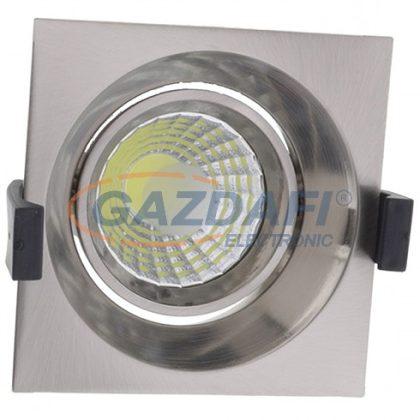 OPTONICA CB3224 süllyesztett LED spot lámpatest,forgatható,matt króm 8W 200-240V 640lm 4500K 60° 100x100x70mm IP20 A+ 25000h