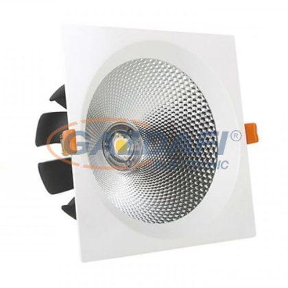 OPTONICA CB3233 süllyesztett LED spot lámpatest, forgatható, 15W 200-240V 1200lm 4500K 60° 115x115x90mm IP20 A+ 30000h