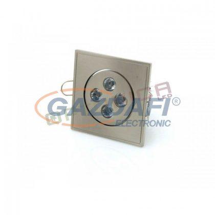 OPTONICA DL2146 LED beépíthető spot 4W 220V 320lm 2800K 40° 85x85x45mm IP20 A+ 25000h